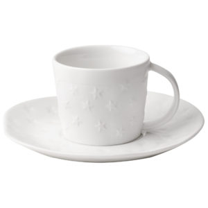 Espresso Tasse & Untertasse Sterne