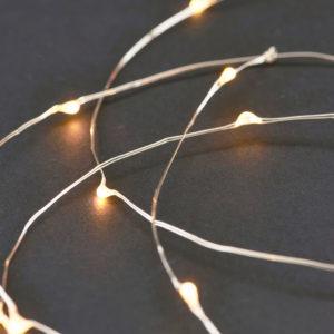 Lichterkette 10 Meter silber