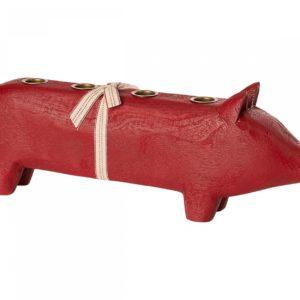 Maileg Holzschwein (Rot)