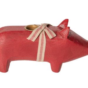 Maileg Holzschwein medium rot