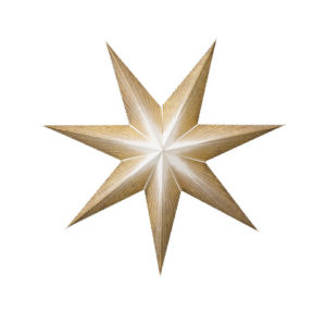 Paper Star gold 50cm mit Kabel