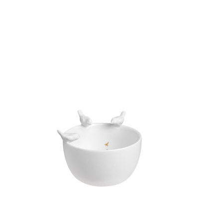 Porzellangeschichten Schale Vögel Tausendschön Deko
