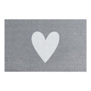Fußmatte weißes Herz