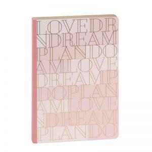 Artebene Schreibbuch Love