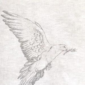 Frohstoff Geschirrtuch Taube