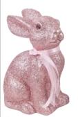 Glitzerhase groß pink