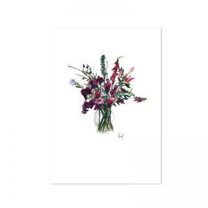 Leo la Douce Blumenstrauss violett A4