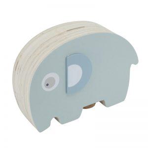 Sebra Spardose Elefant aus Holz blau