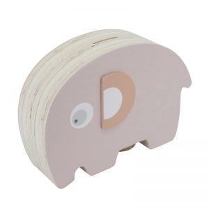 Sebra Spardose Elefant aus Holz rosa