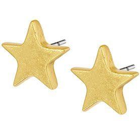 XMAS earstuds worn gold   SENCE Copenhagen Dealer Portal