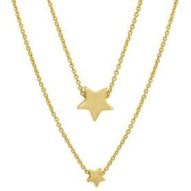 XMAS necklace worn gold - 45 cm | SENCE Copenhagen Dealer Portal